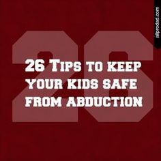 26 Tips to Keep Your Kids Safe from Abduction – iMOM 26 Tips to Keep Your Kids Safe from Abduction Parents, are your kids really safe?The world is full of great friends and great memories for our children to make….but it's also full of dangers. Safety Tips, Kids Safety, Dad Advice, Raising Kids, Best Mom, Parenting Advice, Good To Know, Baby Kids, Toddler Boys