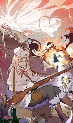 Anime Military, Military Art, Cool Anime Girl, Anime Girls, Anime Weapons, Girls Frontline, Short Comics, Only Girl, Anime Artwork