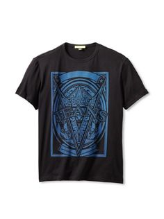 64% OFF Versace Jeans Men\'s Graphic T-Shirt (Black)
