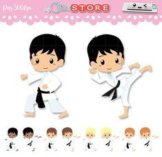 Chibi Karate Kid Clipart, Sport classes karate & taekwondo set. PNG graphic Great for planner Stickers, paperclips. Commercial Use Ok. Graphics come free of watermarks and dont include the shadow effect. More kawaii cliparts here: http://mycutiestore.etsy.com For printables visit: http://designby2.etsy.com ❤❤❤FAQ❤❤❤ ❤ Layer,rotate and scale without loss of quality. *u* ❤Includes ZIP with the individual graphics in PNG files at 300 DPI. ❤❤❤DOWNLOAD❤❤❤ -Paypal: Ins...