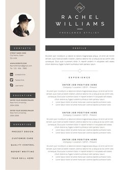 3page resume cv template cover letter for by theresumeboutique - Resume With Cover Letter