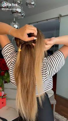 Work Hairstyles, Easy Hairstyles For Long Hair, Braids For Long Hair, Hair Up Styles, Medium Hair Styles, Hair Videos, Hair Looks, Hair Inspiration, Hair Makeup