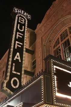Shea's Theater in Buffalo, NY. It is such a beautiful building with fantastic ballets and musicals!
