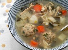 Spring Matzo Ball Soup with Herb Matzo Balls
