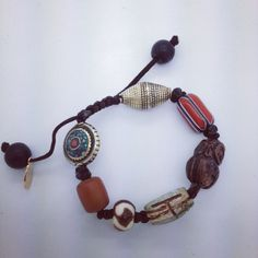 brown macrame bracelet by jenstock.com