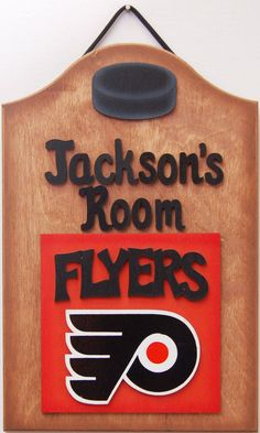 philadelphia flyers personalized hockey sports sign philadelphia flyers wooden sports sign teen sports room sign hockey decor hockey signs