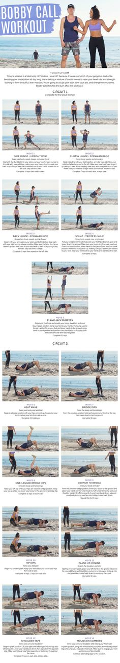 New Total Body couples HIIT workout! You're going to sculpt your tush, tone your abs, and strengthen your arms. Bobby definitely felt the burn after this workout ;)