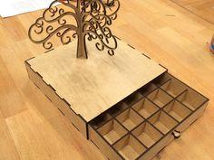 Jewelery Tree She case Holder box CNC Cut file by projectCNC