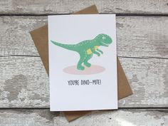 Funny Valentines Card Dinosaur Card Greetings Card