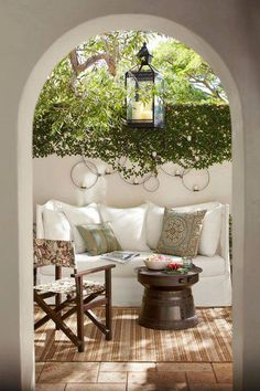 Most designs for projects come from a little inspiration, like from beautiful patios. They can really help you start thinking about what your patio could look like. Outdoor Rooms, Outdoor Living, Outdoor Furniture Sets, Outdoor Seating, Rustic Furniture, Outdoor Kitchens, Outdoor Sofa, Antique Furniture, Indoor Outdoor