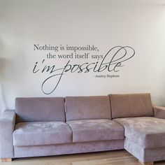 Nothing Is Impossible Wall Sticker Vinyl Wall Decal by Wallboss