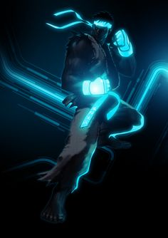 Street Fighter TRON style artwork