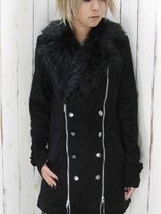 Zipped P Coat w/ Fur / See more at http://www.cdjapan.co.jp/apparel/new_arrival.html?brand=DRT #japan punk #japan fashion