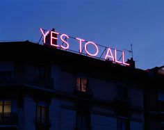 »yes to all« by sylvie fleury