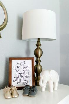 Cool Nursery Styling in a Neutral Nursery - love this decor!