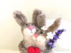 Valentine wedding cake topper valentine wedding by Felt4Soul