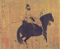 733px-Tang_dynasty_2_horses_1_rider