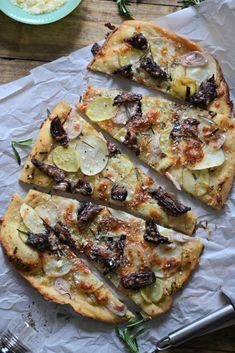 Steak and Potato Pizza (braised short rib, crispy potatoes, 7 shallots ...