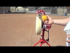 Baseline Pitching Machine Demo Baseball Softball Combo Best Sports Direct Orde online or call direct 888-852-4550 ask questions (NO overseas call center) http://bestsportsdirect.com