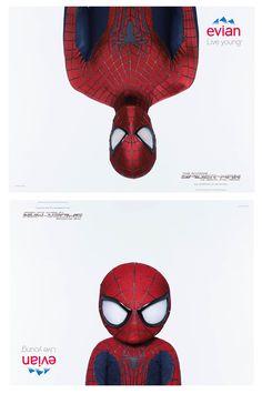 Publicité #Evian à l'occasion de la sortie du nouveau Spider Man >>> Agence : BETC