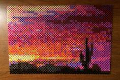 Phoenix sunset perler bead creation by etselecaira