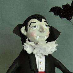 Dracula Polymer Clay Art Doll Figurine by APieceofLisa on Etsy,