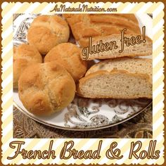 French bread & Rolls, Ooh, La, La! (Gluten free & paleo.) This heavenly bread is as good as it looks. Crunchy on the outside & soft in the middle. YUM! by Jenny at www.AuNaturaleNutrition.com