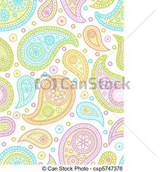 Colorful seamless paisley pattern. - csp5747378