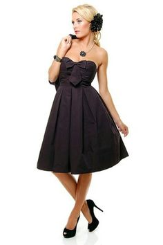 Black dress with bow!