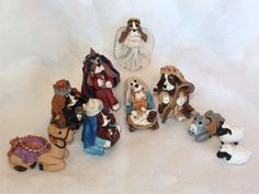 Polymer Clay Dog Nativity by Laurie Valko, via Flickr