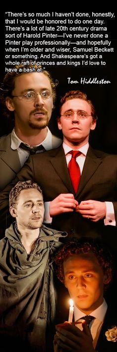 Tom Hiddleston reveals his theatre wish-list. Interview: https://www.youtube.com/watch?feature=player_embedded&v=RFOTMx2umFA