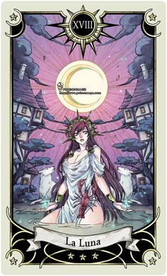 Tarot: The Moon by *rann-rann on deviantART