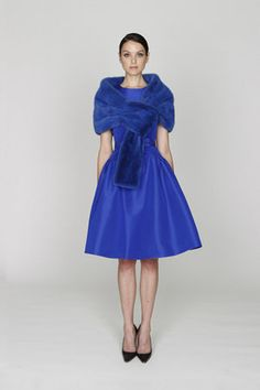 Monique Lhuillier Pre-Fall 2012 | Silk Dress