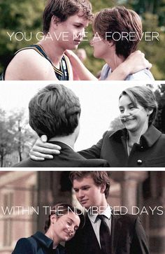 """""""I want more numbers than I'm likely to get, and God, I want more numbers for Augustus Waters than he got. But Gus, my love, I cannot tell you how thankful I am for our little infinity. I wouldn't trade it for the world. You gave me a forever within the numbered days, and I'm grateful."""" (x)"""