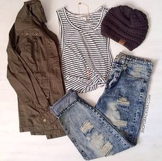 Cute fall outfit for school.