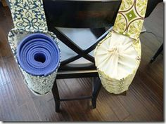 modification of Amy Butler pattern to add drawstring Sewing Projects, Projects To Try, Crafty Craft, Crafting, Yoga Mat Bag, Diy And Crafts, Diy Ideas, Craft Ideas, Amy Butler