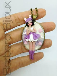 collana doll in miniatura-coniglio-kawaii-accessorio