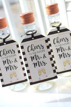 Learn how to make these chic wine bottle wedding favors!   Pinterest ...