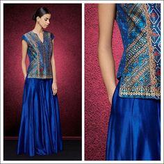 Lehenga Top, Lehenga Choli, Choli Designs, Blouse Designs, Indian Skirt And Top, Indian Fashion, Womens Fashion, Indian Outfits, Indian Clothes