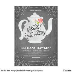 202 best bridal shower invitations images on pinterest bridal tea party bridal shower invitation stopboris Image collections