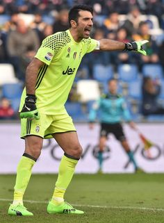 Gianluigi Buffon of Juventus FC in action during the Serie A match between US Sassuolo and Juventus FC at Mapei Stadium - Citta' del Tricolore on January 29, 2017 in Reggio nell'Emilia, Italy.