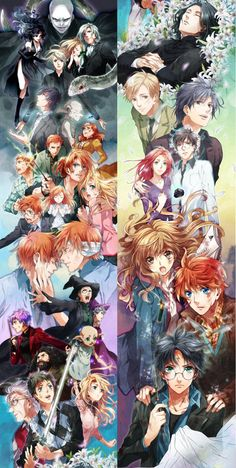 Harry Potter as Anime Characters Harry Potter Fan Art, Images Harry Potter, Fans D'harry Potter, Harry Potter Comics, Harry Potter Wizard, Harry Potter Universal, Harry Potter Fandom, Harry Potter Characters, Harry Potter Memes