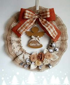 Corona Diy And Crafts, Christmas Crafts, Christmas Decorations, Christmas Ornaments, Wreaths And Garlands, Xmas Wreaths, Advent Wreath, Diy Wreath, Merry Little Christmas