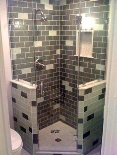 Another beautiful design platform, Neo Angle Showers give you the space of an inline shower with the square footage of a corner shower. The best of both worlds Bathroom Layout, Bathroom Interior Design, Laundry In Bathroom, Small Bathroom, Bathroom Showers, Laundry Rooms, Master Bathroom, Shower Makeover, Door Makeover