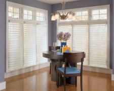 These blinds are made out of sheer fabric, but can still give full privacy when turned to the proper position. It sounds like they'd diffuse sunlight beautifully! Can I see them in action, please?