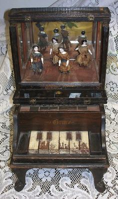 3-DAY AUCTION - RARE Gem Miniature Piano with Dancing Dolls Patent 1881 | eBay