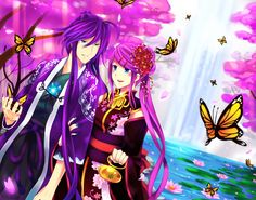 Spring Gaku and Luka by ~Mitsukiven on deviantART - Gakupo x Luka fanart