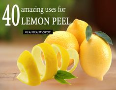 40 unusual uses for lemon that will make your home look and smell fresh, brighten your laundry, and also improve...