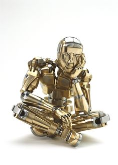 Animatronic human sculpture in bronze and stainless steel by Mark Ho http://www.craftsmanshipmuseum.com/Ho.htm