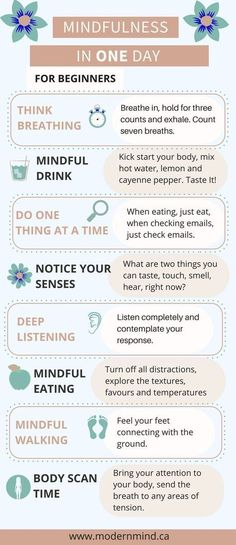 Mindfulness in One Day Self-care mindfulness being mindful purpose in the moment being present meditation for women techniques exercises routine worksheets quotes inspiration motivation activities read more at thislifethi Stress Meditation, Meditation For Beginners, Guided Meditation, Meditation Exercises, Meditation Quotes, Basic Meditation, Meditation Steps, Meditation Symbols, Mindfulness For Beginners